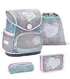 Belmil ergonomischer Schulranzen Set 4 -teilig für Mädchen...