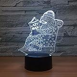 Nur 1 Stück Siegel 3D Vision Nachtlicht Touch Touch Schalter USB-Leuchten Schöne Farbe 3D Lampe Spaß Geschenk für Lazy Man