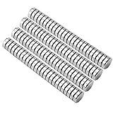 HHOOMY Neodym Magnete - 100 Stücke Mini Magnete Rund 5 x 1mm mit Aufbewahrungs Box, N52 NdFeB Magnete Rare Earth Permanentmagnet für DIY Craft Office Pinnwand, Whiteboard, Kühlschrank, Magnettafel