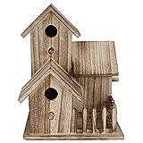 iFCOW Vogelhaus aus Holz, klein, für den Garten, Nistkasten, Vogelhaus, Haustierbedarf, Dekoration