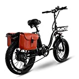 Y20 E-Bike Klapprad 20 Zoll, Upgrade Elektrofahrrad Damen mit 15AH 48V Lithium-Batterie Mit 750W Bürstenlosen Motor, Shimano 7-Gang   5 Speed Gear, Max Speed 45km/H,[EU Warehouse]