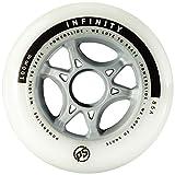 Powerslide Rollen Infinity II 4-Pack, Weiß, 80mm