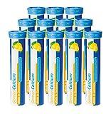 Calcium Brausetabletten 12x20 Stk. Zitronen Geschmack - 500 mg Kalzium - T&D Pharma German Calcium – Made in Germany
