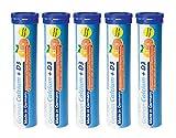 Calcium + Vitamin D3 Brausetabletten 5x20 Stk. Orangen-Grapefruit Geschmack - 500 mg Kalzium, 2,5 μg Vitamin D3 - T&D Pharma German Calcium + Vitamin D3 – Made in Germany