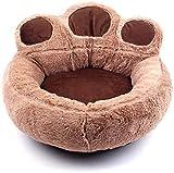 Luxuriöses, abnehmbares und waschbares Hunde- und Katzenhaus, Haustierbedarf, Plüsch-Hundebett, Luxus-Kissen, geeignet für Haustiere jeder Größe (Farbe: Braun, Größe: Klein) (Farbe: Groß)