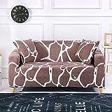 ASCV Blumendruck Strecth Sofabezug Elastic Geometry Sofabezüge für Wohnzimmer Schonbezüge Sessel Couchbezug A27 1-Sitzer