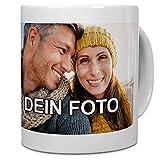 PhotoFancy® - Tasse mit Foto Bedrucken Lassen - Fototasse Personalisieren – Kaffeebecher zum selbst gestalten (Weiß)