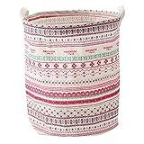 FAMOORE Wäschekörbe Mode Bedruckte Haushalts Faltbare Spielzeug Kleidung Aufbewahrungstasche Wäschekorb Vorratsbehälter (C)