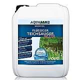 AQUASAN Gartenteich Mulmvec Flüssiger Teichsauger Plus (Teichschlammentferner - Kein mechanisches Absaugen von Schlamm und Mulm mehr notwendig - Nie Wieder Teichschlamm), Inhalt:5 Liter