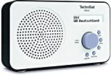 TechniSat VIOLA 2 tragbares DAB Radio (DAB+, UKW, Lautsprecher, Kopfhöreranschluss, zweizeiligem Display, Tastensteuerung, klein, 1 Watt RMS) weiß/schwarz