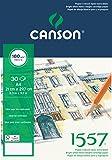 Canson 204127414 1557 Zeichen-und Skizzenpapier, A4, rein weiß, 30 Blatt