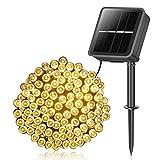 Solar Lichterkette Außen, 14M 120 LEDs Lichterketten Aussen, Wasserdicht mit 8 Leuchtmodis Lichterkette für Balkon, Gartendeko, Bäume, Terrasse, Hochzeiten, Weihnachtsbeleuchtung (Warmweiß)