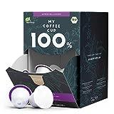My Coffee Cup – MEGA BOX LUNGO BELLISSIMO – BIO-KAFFEE I 100 Kaffeekapseln für Nespresso®³-Kapselmaschinen I 100% industriell kompostierbare Kaffeekapseln – 0% Alu I Nachhaltige Kaffeekapseln