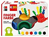 Marabu 0303000000085 - Kids Fingerfarbe Set mit 6...