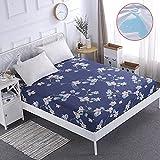 NHhuai Matratzen-Bett-Schoner mit Spannumrandung   Betten und Wasserbetten geeignet Wasserdichtes einteiliges atmungsaktives Matratzenschutztuch