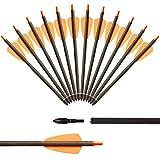 IRQ Speed Voll Carbon Armbrustpfeile, 7,5' / 15' Armbrust Bolzen, 2 Flügel Pfeile für Armbrüste, 12STK (7,5')