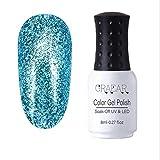 Flash Platinum Nagellackkleber 8ML, Glitter Sequin Platinum Kleber, UV/LED absorbierendes Gelöl, lang anhaltender Glanz, Nail Art Nagelstudio (Fingernägel, Zehennägel)