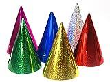Generique - Partyhüte glänzend Kostümzubehör 20 Stück bunt