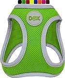 DDOXX Brustgeschirr Air Mesh, Step-In, reflektierend | viele Farben | für kleine, mittlere & mittelgroße Hunde | Hunde-Geschirr Hund Katze Welpe | Katzen-Geschirr Welpen-Geschirr | Grün, S