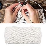 Okuyonic Hochwertiges Seil, weiße Naturbaumwolle, Anzug für Anfänger bis Fortgeschrittene, zum Stricken von Handschuhen, Pullovern usw.
