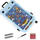 ZHXY Pinball,Mini-Flipper,Elektronischer Flipper,Mit Lichtern Und Geräuschen Kinderraum Flipper Spielautomat Eltern-Kind Puzzle Pinball Pinball Toy.