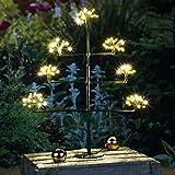 LED Baum mit Sterneffekt Lichterbaum mit 140 warmweissen LEDs Dekobaum 50 cm hoch Weihnachtsbeleuchtung Leuchtbaum Tannenbaum Christbaum Weihnachtsbaum zum selbstdekorieren mit Kugeln, Lichterketten