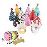 redcolourful 11 Stück / Set Cartoon-Partyhüte, lustiger Kegel, Geburtstagsparty, Krone, Hüte, modische und personalisierte Hüte für Kinder, Haustiere und Erwachsene