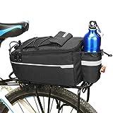QIULAO Fahrradgepäcktasche, Wasserdicht Und Hitze Erhaltung, 10L Großvolumige Radfahren Kamel-Tasche, Multifunktions Tragbare Reisetasche, Profi-Radsport Zubehör (Color : Black)