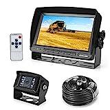 Rückfahrkamera 18 IR LED Wasserdicht Rückfahrsystem Kamera + 7' TFT LCD KFZ Monitor (Zwei Halterungen)
