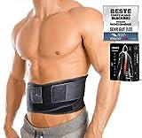 BLACKROX Rückenbandage Lendenwirbelstütze'LUMBAROX' Gürtel Stützgürtel Lendenwirbel Rücken Gurt für Männer und Frauen Stabilisierung rücken geradehalter Rückengurt Rückenstützgürtel (L, Schwarz)