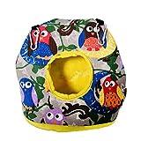 Sunfauo Papageienspielzeug Meerschweinchen Zubehoer Kleines Haustierbett Haustier-Hängematte Hängendes Vogelhaus owl,L