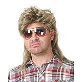 Vokuhila Perücke Herren Blonde Mullet 80er Jahre Kurze Perücken Synthetische Cosplay Karneval Perücke