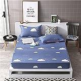 NHhuai Matratzen-Bett-Schoner mit Spannumrandung   Betten und Wasserbetten geeignet Einzelblattabdeckung