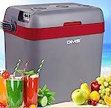 DMS® thermoelektrische Kühltasche 33 L   Gefriertasche   Getränkebox   Kühl- und Warmhaltefunktion   Auto und LKW   Camping   12-24 V   grau-rot