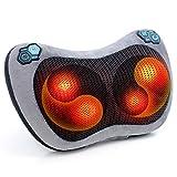 Massagekissen,Shiatsu Massagegeräte für Nacken Schulter Rücken Muskelschmerzen,Infrarot Wärmefunktion mit 3D-rotierenden Massageköpfen für Auto Büro Zuhause