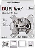 DUR-line Antennendose 3-Loch SAT | Kabelfernsehen | DVB-T |...
