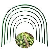 6 x Gewächshaus-Reifen, Pflanzen-Reifen, Wachstums-Gartentunnel, mit kunststoffbeschichteten Pflanzenstützen für Gartengewebe, Pflanzenunterstützung, Gartenstecker