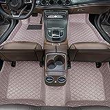 Dinuoda Fußmatten Für Audi RS3 2017-2019 Automatten Fussmatten rutschfeste Abnutzung Bodenmatten-Leder Material Teppiche (Grau)
