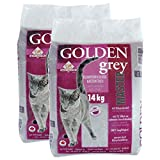 pet-earth Golden Grey Master Katzenstreu mit Babypuderduft 2x14kg
