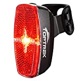 toptrek Fahrrad Rücklicht LED Rückleuchte mit Zmark Reflektor, Fahrradrücklicht Wasserdicht IPX4 Fahrradlicht Hinten für Rennrad MTB (Schwarz)