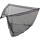 G8DS® 42' Karpfenkescher mit schwarz gummiertem Netz + Metall V-Block + Stinkbag