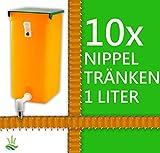 agrarking.de 10x Kaninchentränke Nippeltränke 1 Liter Nagertränke Kunststoff-Halterung