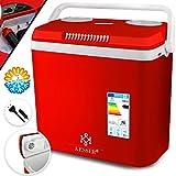 KESSER® 32 Liter Kühlbox   KÜHLT und WÄRMT   Thermo-Elektrische Kühlbox 12 Volt und 230 Volt   Mini-Kühlschrank   für Auto und Camping   EEK A++   Rot  