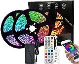 GH-YS LED-Lichtleiste, 5050RGB 10 m Bluetooth-Musikrhythmus-Lichtleisten-Set, 24-Tasten-Fernbedienung, Betrieb bei niedriger Temperatur und geringem Stromverbrauch, 5A-Netzteil 10M