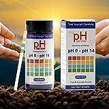 Crushmet Bodentester, 0-14 PH Bodentest, Boden PH Teststreifen(100 Streifen), Bodenmessgerät für Pflanzen, Boden pH Tester, PH Pflanze Tester für Pflanzenerde, Gartenbau, Bauernhof, Rasenpflege
