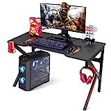 SIMBR Gaming Tische, 120 cm, K-Frame-Design, Großer...