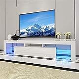 TV Schrank Hochglanz-Weiß Fernsehtisch Lowboard Sideboard TV Möbel Fernsehschrank Holz 130x35x45cm