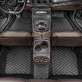 Dinuoda Fußmatten Für BMW X3 2018-2019 Automatten Fussmatten rutschfeste Abnutzung Bodenmatten-Leder Material Teppiche (Schwarz)
