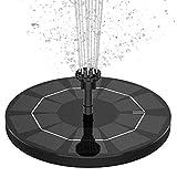 AISITIN Solar Springbrunnen mit 3.5W Solar Panel Eingebaut 1500mAh Akku Solar Teichpumpe Garten Wasserpumpe Solar Schwimmender Fontäne Pumpe 6 Effekte für Teich, Pool, Fischteich, Vogelbad, Garten