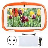 Agatige Kind-Tablet, 1 GB + 16 GB HD-Lern-E-Reader 7 Zoll Orange 100-240 V(EU 110-240V)
